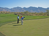 Vistoso Golf Club, Tucson, 18. Loch